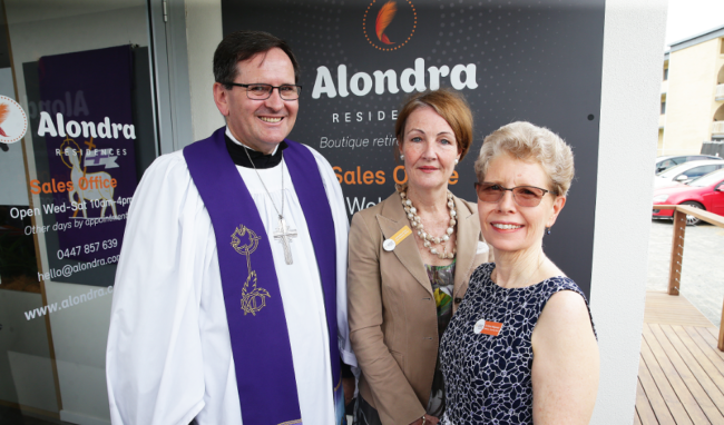Bishop Paul Smith, Lutheran Services CEO, Jacqueline Kelly and Lutheran Services Chairperson, Dr Clare Seligmann